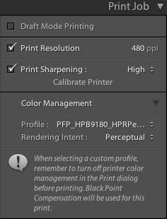 LR print config